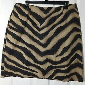 Lauren Ralph Lauren Zebra Mini Skirt